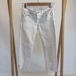 7 for All Mankind Cuffed Cropped Skinny